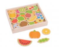[Drevené magnetky-Ovocie a zelenina]