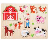 [Vkladacie puzzle - Zvieratá z farmy]