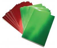 [Metalický kartón - červený/zelený]