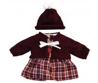[Oblečení pro panenky - 38 cm - Károvaná sukně, sada]
