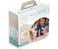 [Dřevěné magnetické kostky natural, 100 ks]