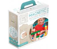 [Dřevěné magnetické kostky barevné, 100 ks]