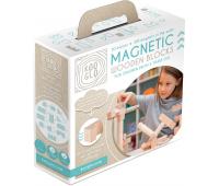 [Dřevěné magnetické kostky natural, 50 ks]