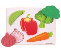 [Přiřazovací puzzle - Zelenina]