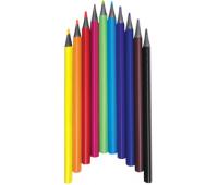 [Trojhranné bezdřevé tužky JUMBO, 12 barev]