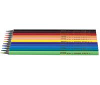 [Trojhranné bezdřevé tužky, 12 barev]