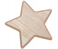 [Dřevěná hvězdička, 1 ks]