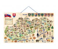 [Dřevěné magnetické puzzle-Slovensko]