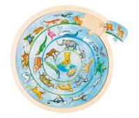 [Kruhové puzzle - Zvieratká sveta]