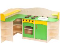 [Dětská rohová kuchyňka zelená]