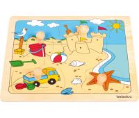 [Beleduc vkládací puzzle s úchytkou Pláž]