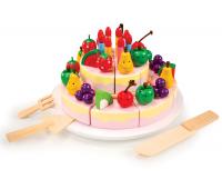 [Narozeninový ovocný dort dřevěný]