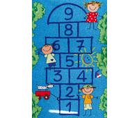 [Dětský koberec Školka modrý 180 x 100]