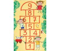 [Dětský koberec Školka žlutý 180 x 100]