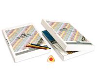 [Krabice s 288 trojhrannými barevnými tužkami]