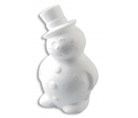 [Polystyrenové tvary - Sněhulák (výška 17 cm)]