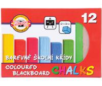 [Křídy barevné, čtvercové - 12 barev]
