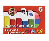 [Křídy barevné, čtvercové - 6 barev]