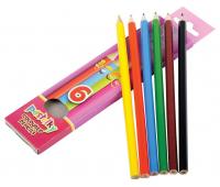 [Šestihranné pastelky, 6 barev]