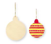 [Dřevěná vánoční koule, 4 ks]
