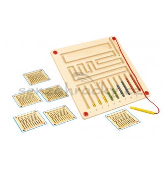 Grafomotorická magnetická tabule - počítání kuliček