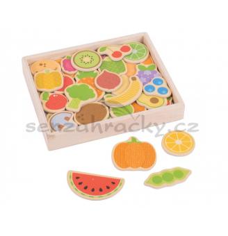 Drevené magnetky-Ovocie a zelenina