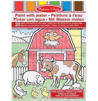 Maľuj vodou - Zvieratká na farme