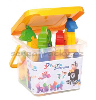 3D Puzzle - Zvířátka, 64 ks