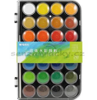 Vodové barvy, 28 barev