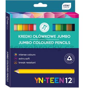 Barvičky JUMBO,trojhranné, 12 ks