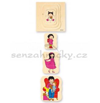 Babička - vrstvové puzzle