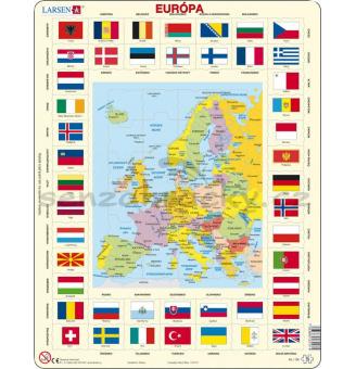 Glóbus v puzzle - Evropa - slovenská verze