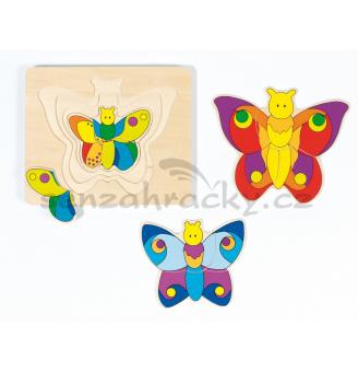 Vrstvové puzzle - Motýl