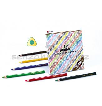 Extra hrubé trojhranné tužky Goldline