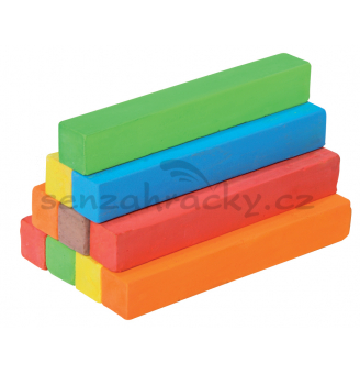 Křídy čtvercové, barevné