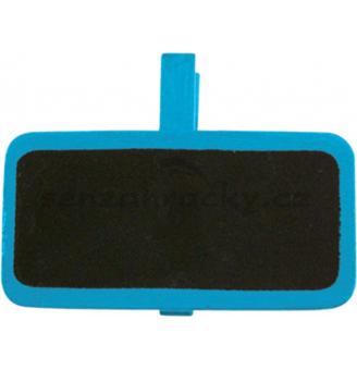 Dřevěné označovací tabulky - modrá