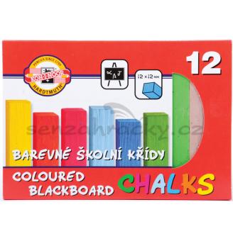 Křídy barevné, čtvercové - 12 barev