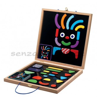 Magnetická skládačka s tabulkou - černá